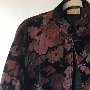 Vintage Fall Floral Jacket